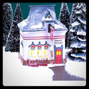 Dept 56 North Pole Beard Barber Shop
